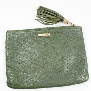 GiGi New York Accessories Green Leather Pouch Bag